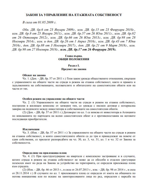Закон за управление на етажната собственост